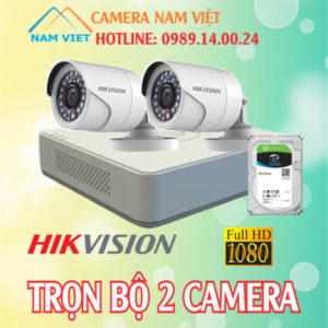 Bộ 2 camera hikvision 2mp